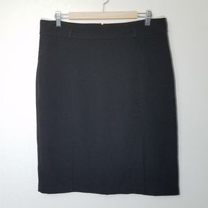 Pencil Skirt with left front slit and belt loops